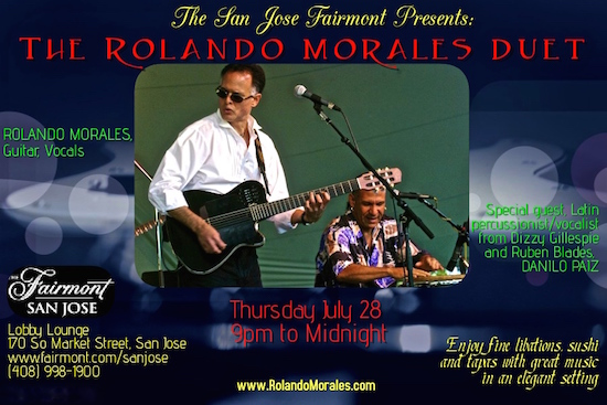 Rolando Morales and Danilo Paiz will perform at the Fairmont San Jose