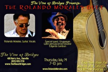 Edgar Cambon joins Rolando Morales tonight at The Vine at Bridges