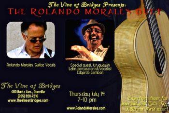 Edgar Cambon joins Rolando Morales tonight at The Vine at Bridges
