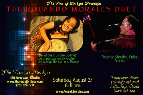 The beautiful Estaire Godinez joins Rolando Morales at The Vine at Bridges