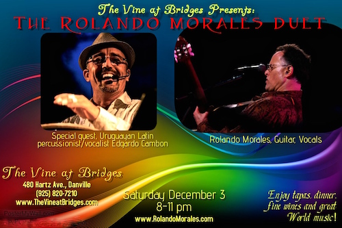 Rolando Morales Duo at The Vine at Bridges featuring Edgardo Cambon