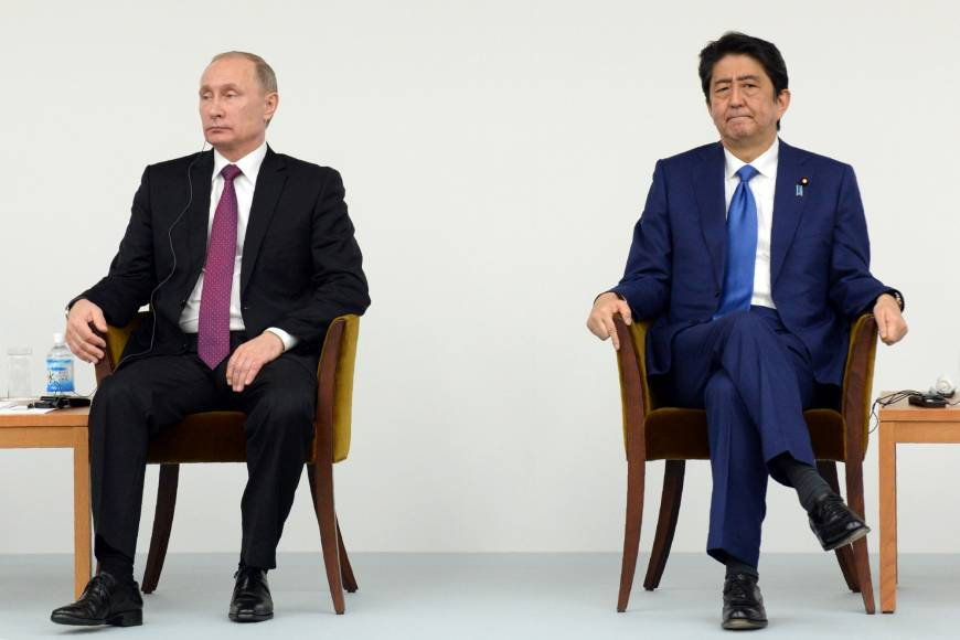 Putin and Abe meet about Japan / Russia Relationships