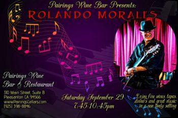 Rolando Morales at Pairings, September 29, 2018