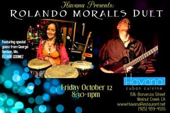 Estaire Godinez joins Rolando Morales at the Havana on October 12, 2018