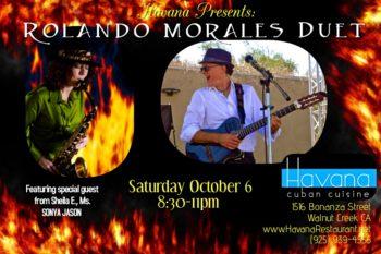 Sonya Jason joins Rolando Morales in Oct 6 at the Havana
