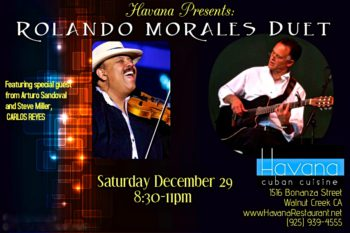 Carlos Reyes joins Rolando Morales at the Havana to celebrate the end of the Year 2018.