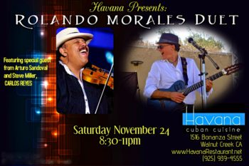 Carlos Reyes joins Rolando Morales at Havana on September 24, 2018
