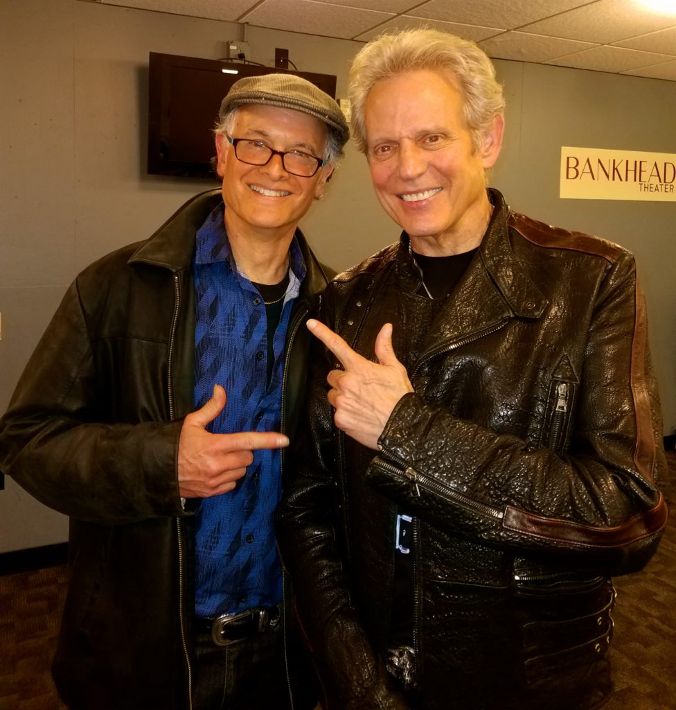 Rolando Morales, Vocalist and Guitarist, back stage with Rock and Roll Hall of Famer Don Felder