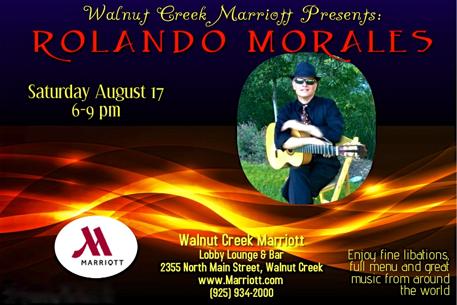 Rolando Morales will perform at the Walnut Creek Marriott