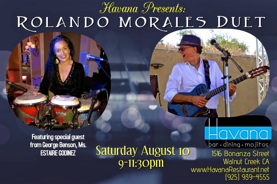 Rolando Morales Trio will perform at Havana's in Walnut Creek, Saturday June 27, 2021