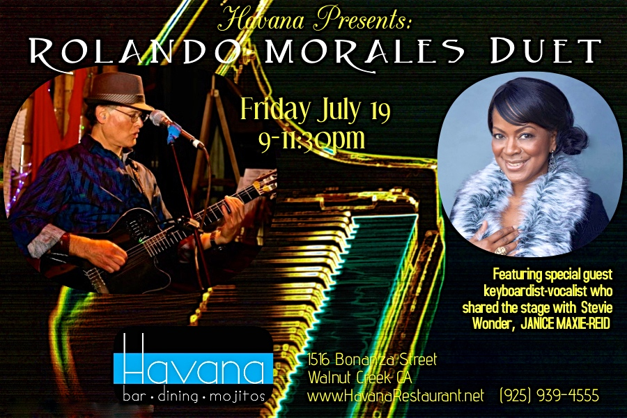 Havana July Janice Maxie-Reid will perform together at Havana's in Walnut Creek July 19, 2019