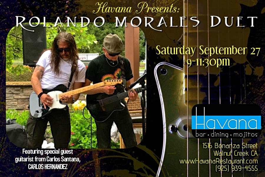 Rolando Morales and Carlos Hernandez will perform at Havana's in Walnut Creek as a duo on September 27, 2019