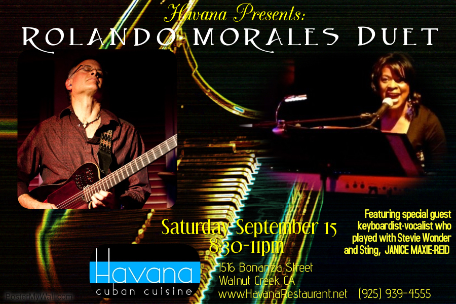 Rolando Morales is joined by Janice Maxie-Reid at Havana's on September 15, 2018