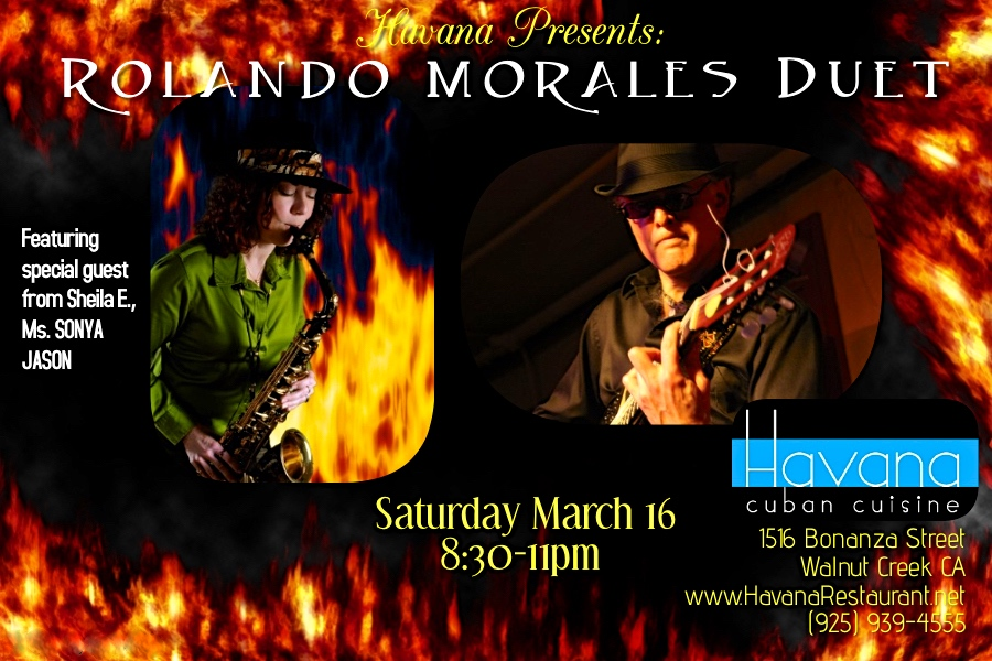 Sonya Jason and Rolando Morales Duet Performance at Havana's on March 16, 2019